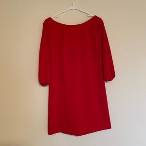 Red Bow Back Shift Dress